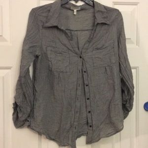 Joie button down blouse almost Sheer *see last pic